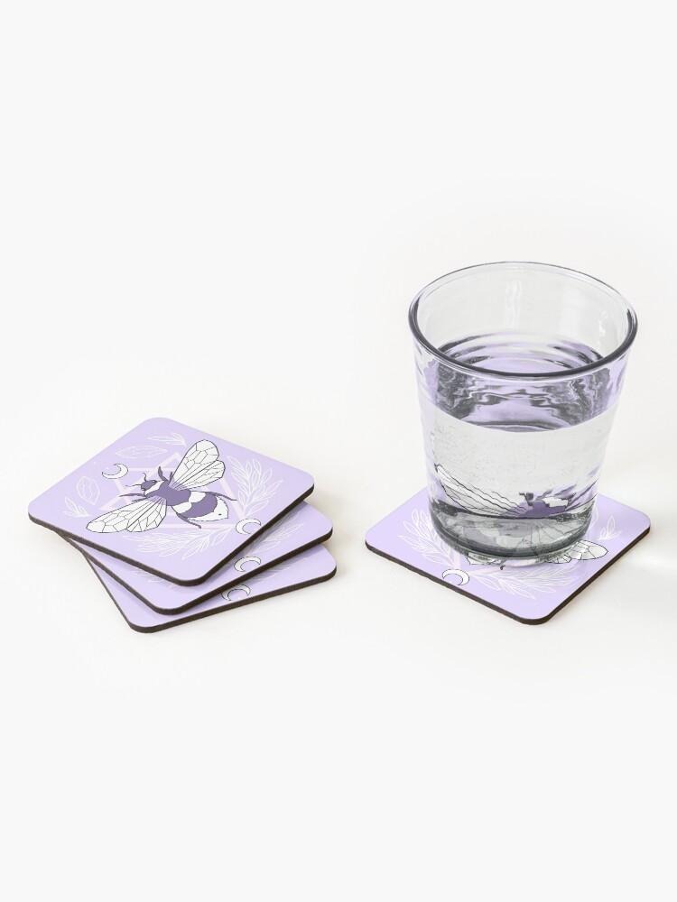 Alternate view of Bee Queen // Pastel | Nikury Coasters (Set of 4)