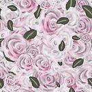 Verträumte rosa gemalte Rosen von Clare Walker