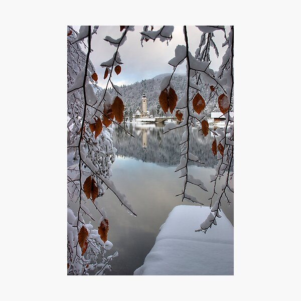 Snowy Valley Photographic Print