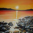 Rocky Shore Sunrise by Cherie Roe Dirksen