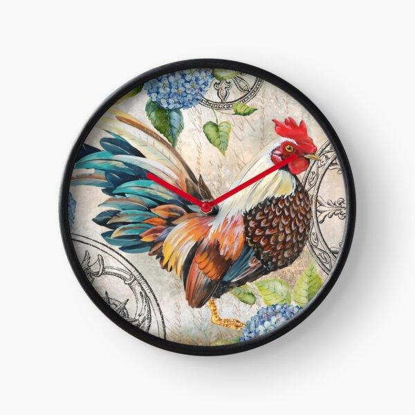 Ironwork Rooster C Clock