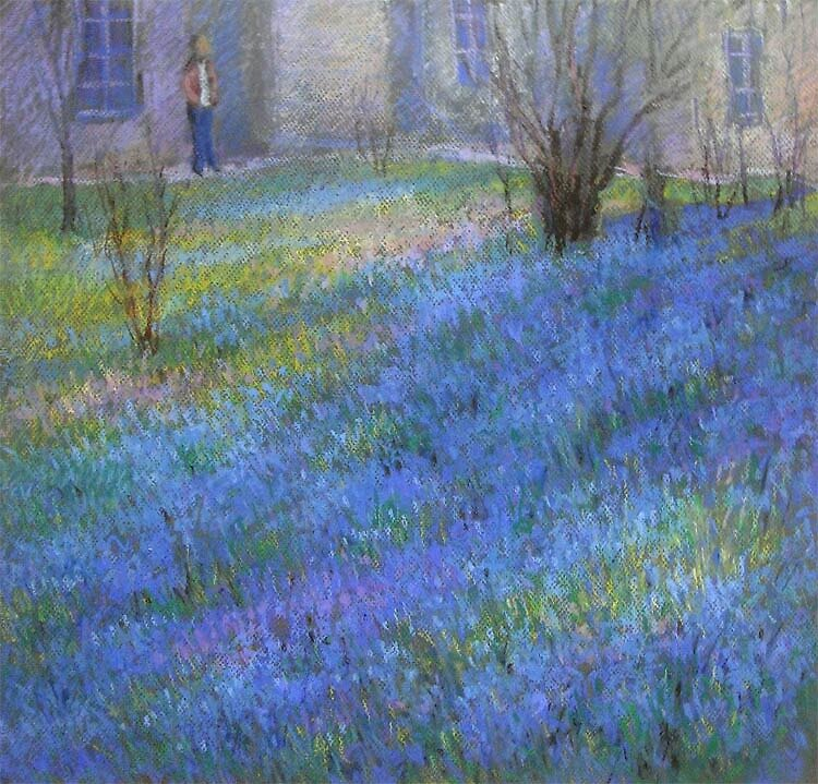Blue flowers by Julia Lesnichy