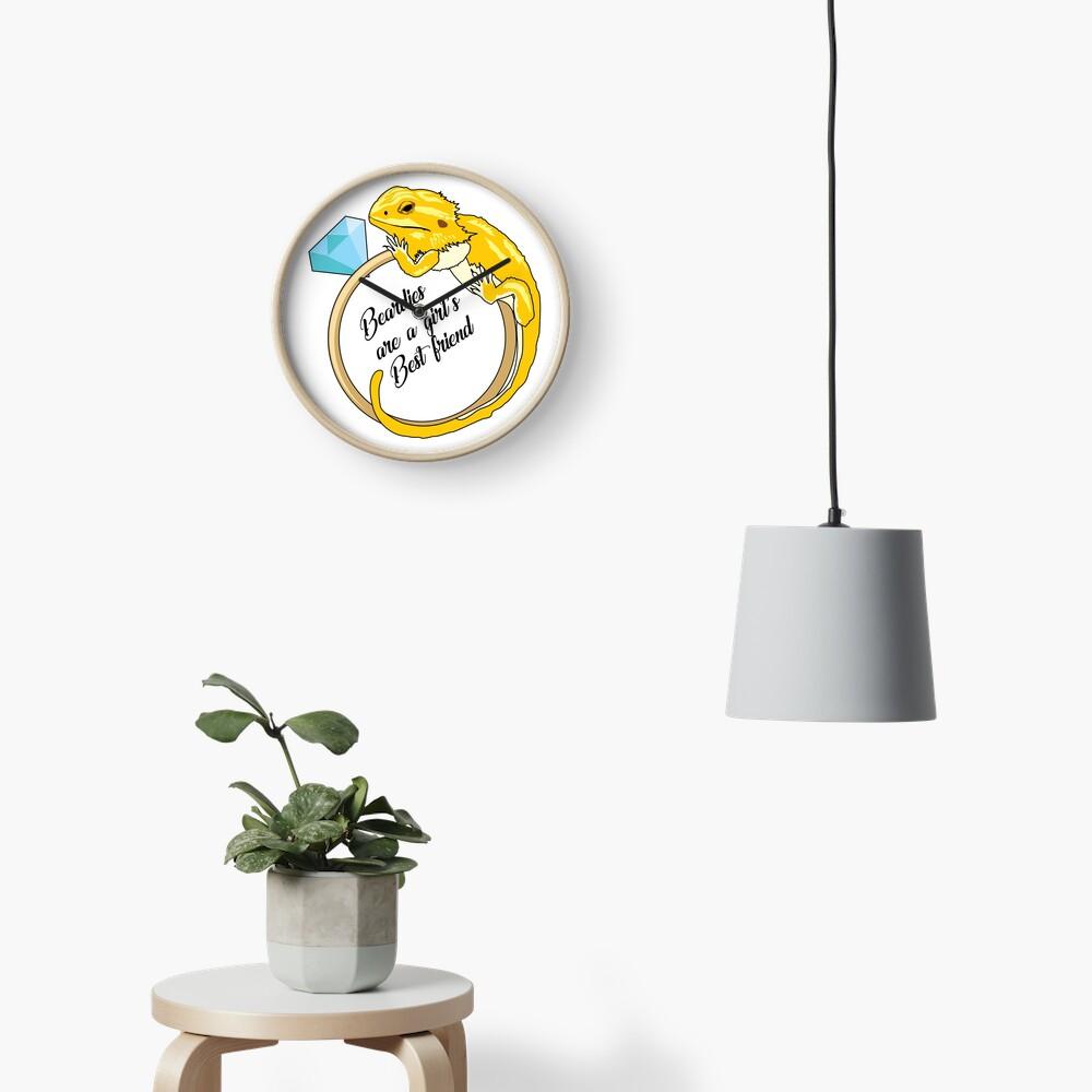 Beardies Are a Girls Best Friend Clock