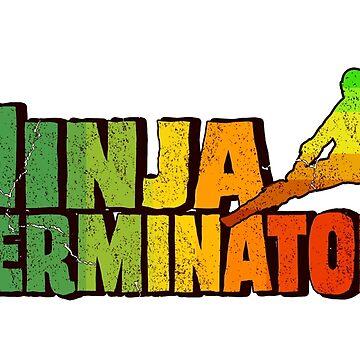 Retro Ninja 80s T-Shirt by bestofbad