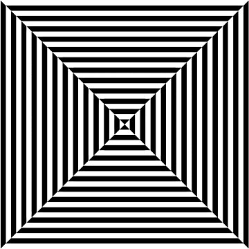 Black and white trapeze, Optical Art by TOMSREDBUBBLE