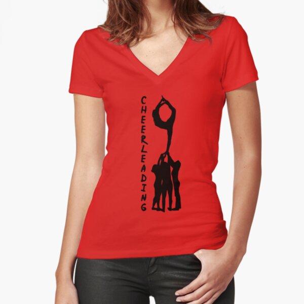 Cheerleading, Cheerleader Fitted V-Neck T-Shirt