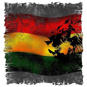 reggae löwe mit fahne von Periartwork