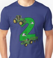 2nd Birthday T Shirt Boys Tractor Farmer Unisex