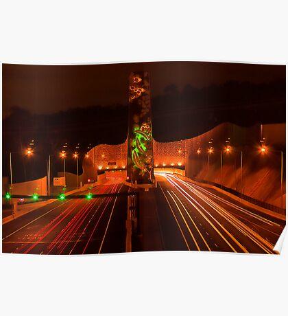 Night at Melba Tunnel Poster