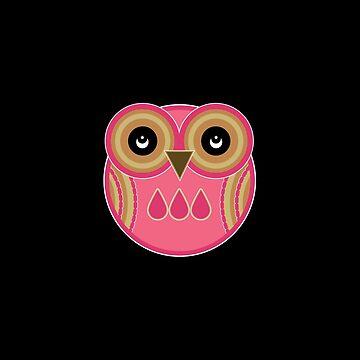 Pink Owl by foxietoo