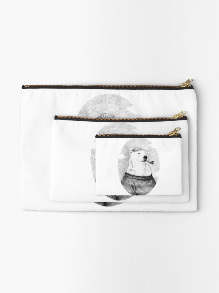 Alternate view of Onto the Shore Zipper Pouch