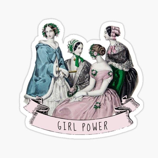 Victorian Girl Power Sticker