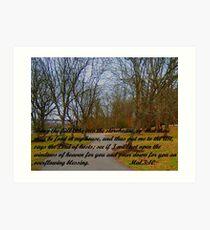 GOD'S STOREHOUSE OF BLESSINGS Art Print