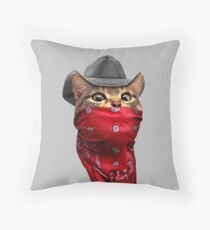 CAT ROBBER Throw Pillow