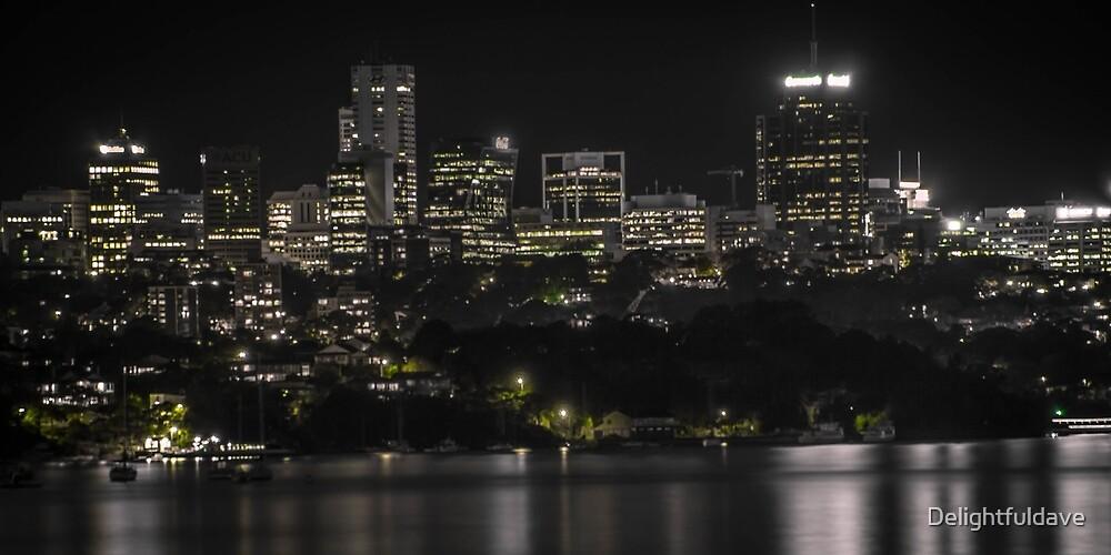North Sydney by night by Delightfuldave