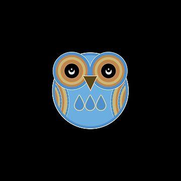 Blue Owl by foxietoo
