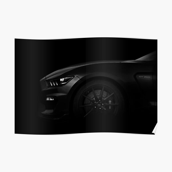 Ford Mustang GT350 - Noir 2 Poster