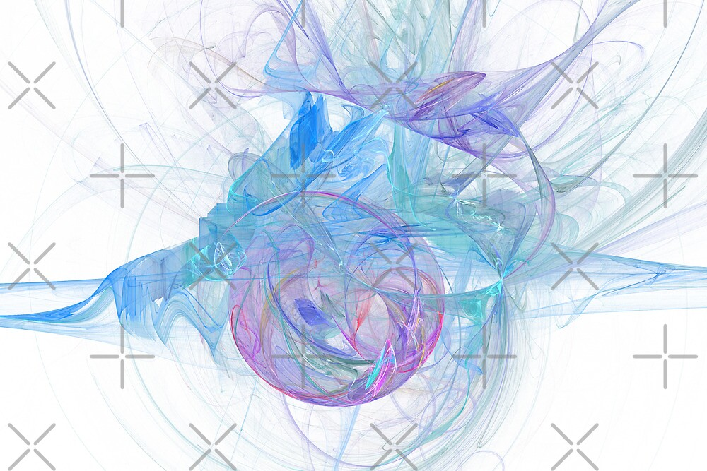 Abstract in Purple, Blue and Green by Kelly Gammon