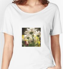 White flowers beautiful nature Women's Relaxed Fit T-Shirt