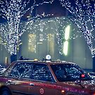 Taxi in Roppongi hills by Guillaume Marcotte