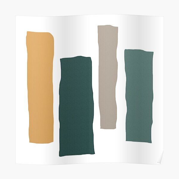 COOL TONE ABSTRACT Poster