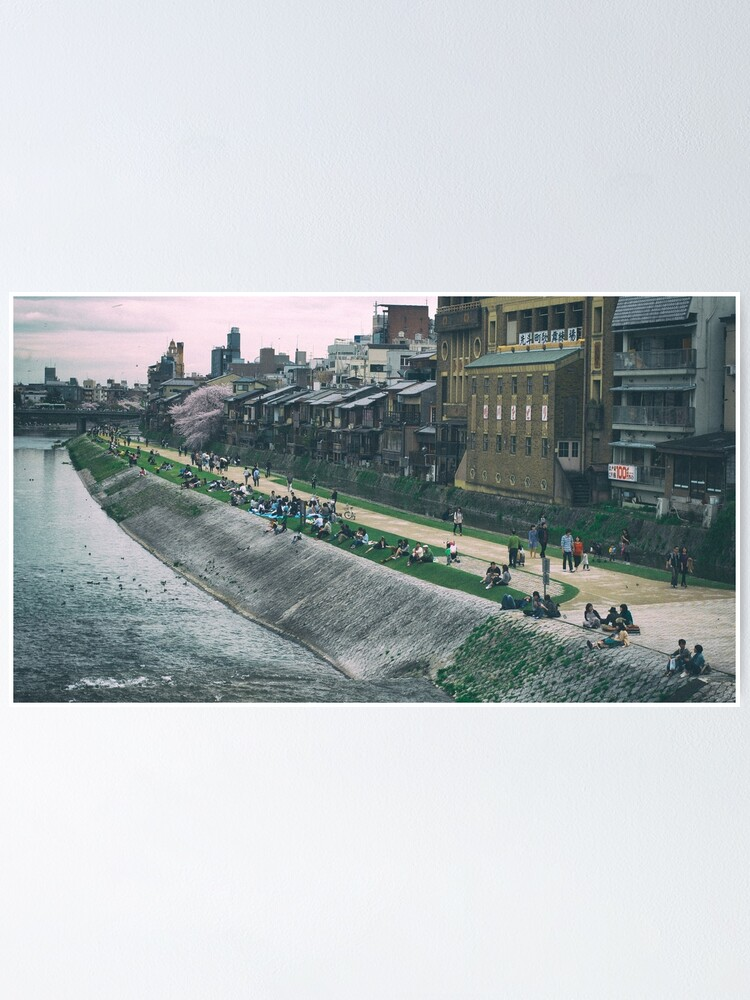 Alternate view of Kamogawa river, Kyoto Poster