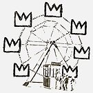 Ferris Wheel, Banksy Pays Tribute To Jean-Michel Basquiat, Artwork, Tshirts, Posters, Bags, Prints, Men, Women, Youth by Art-O-Rama ®