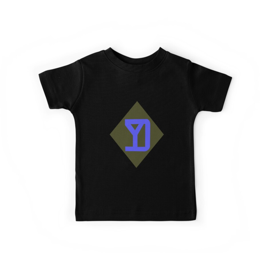 42nd Infantry Division Rainbow Division Childrens Long Sleeve T-Shirt Boys Cotton Tee Tops