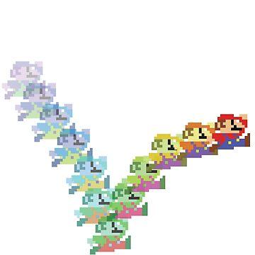 Super Mario Rainbow Jump by galacticrad