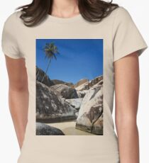 Boulders and Palm Trees Womens Fitted T-Shirt