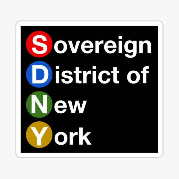Sovereign District of New York Sticker