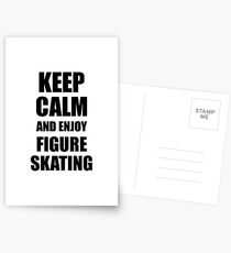 Keep Calm an Enjoy Figure Skating Lover Funny Gift Idea for Hobbies Occupation Present Postkarten