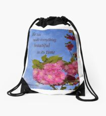 Everything Is Beautiful In It's Time Drawstring Bag
