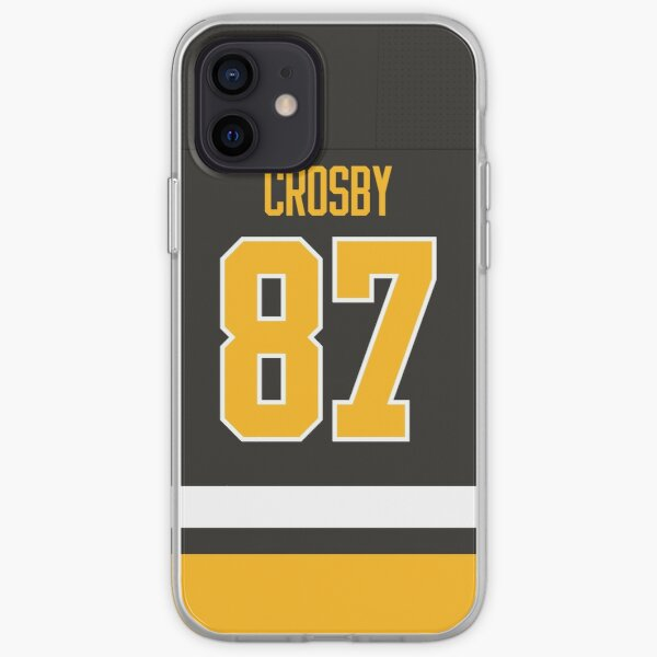 Pittsburgh Penguins Sidney Crosby Home Jersey Back Phone Case iPhone Soft Case