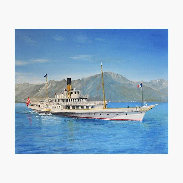 La Suisse on Lake Geneva Photographic Print
