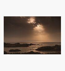 Atlantic Sunset on the Rocks Photographic Print