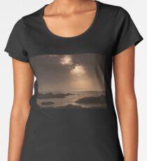 Atlantic Sunset on the Rocks Women's Premium T-Shirt