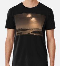 Atlantic Sunset on the Rocks Men's Premium T-Shirt