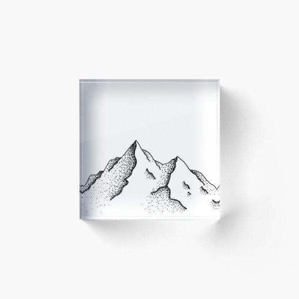 Mountain Peaks Acrylic Block