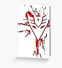 Decepticons Rise  Greeting Card