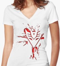 Decepticons Rise  Women's Fitted V-Neck T-Shirt