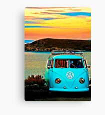 Iconic VW & Sunset. Canvas Print