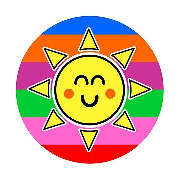 Hello Sunshine / Rainbow Background by foxietoo