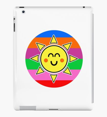 Hello Sunshine / Rainbow Background iPad Case/Skin