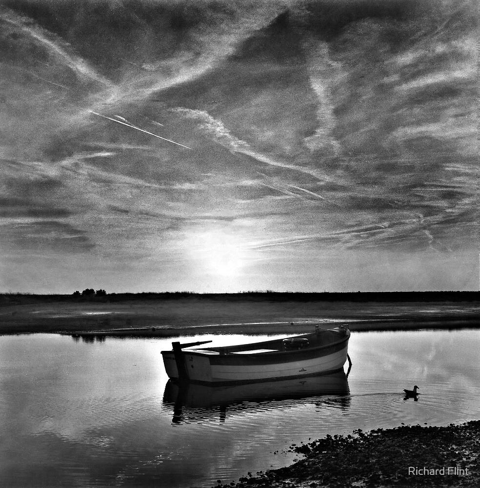 High tide at Burnham Overy Staithe, Norfolk, UK by Richard Flint