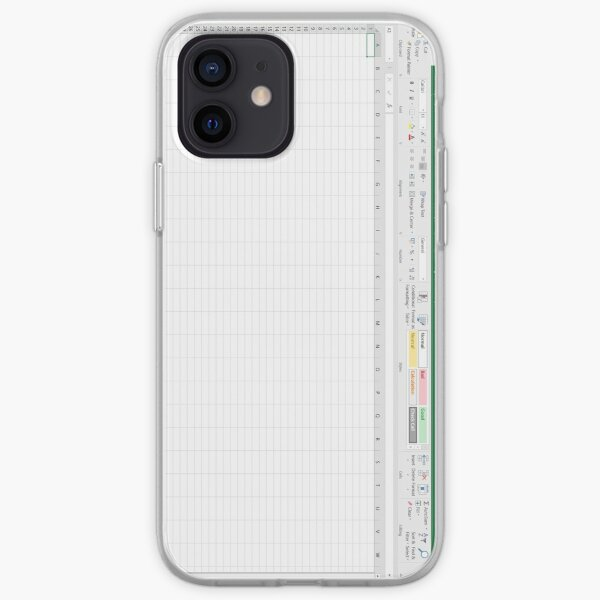 Excel Spreadsheet - Green iPhone Soft Case