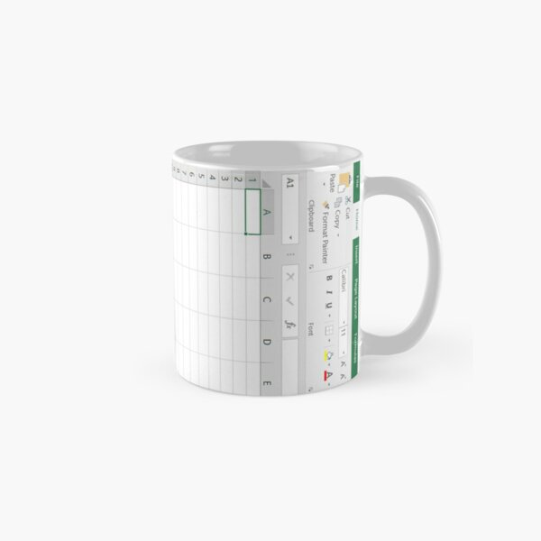 Excel Spreadsheet - Green Classic Mug