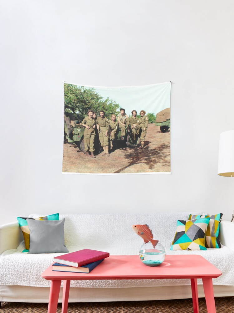 ARMY NURSE CORPS 1944 WWII Nursing Poster Flag Banner Fabric Wall Tapestry