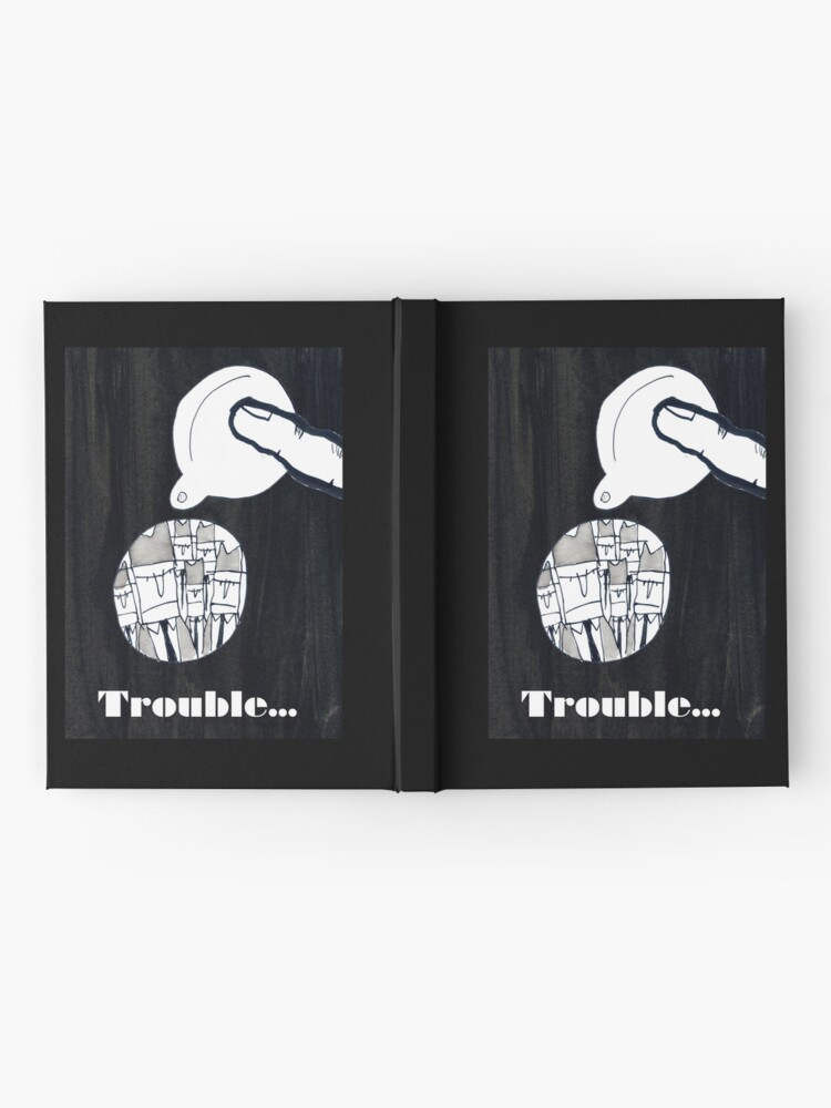 Alternate view of Trouble Hardcover Journal