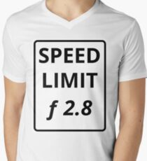 Photography Speed Limit V-Neck T-Shirt